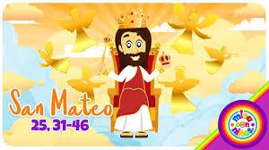 imagenes de jesucristo animado cómic evangelio animado domingo cristo rey san mateo 25 31 46 misa