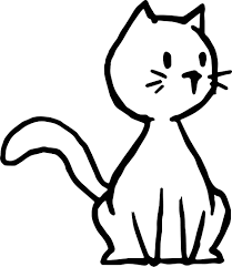 chibi cat coloring page wecoloringpage