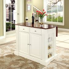 crosley furniture drop leaf breakfast bar top kitchen island in