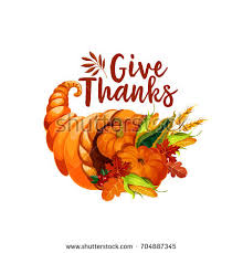 thanksgiving day cornucopia symbol autumn harvest stock vector