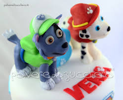 torta decorata paw patrol personaggi marshall rocky