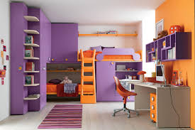 bedroom colors for kids with amazing bunk bed design with purple