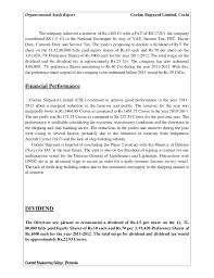Truck Dispatcher Resume Sample by Organisational Study Report Of Cochin Shipyard Limited
