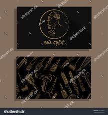 hair salon hair stylist vector set stock vector 381139267