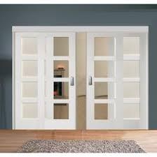 easi slide op1 white shaker 1 pane sliding door system in four