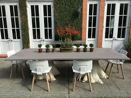 White Wash Table And Chairs Concrete And White Washed Root Tree Dining Table Mecox Gardens