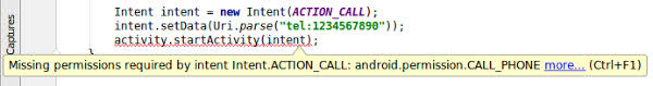 startactivity android improve code inspection with annotations android studio