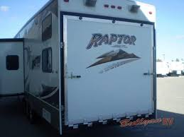 used 2008 keystone rv raptor 3712ts toy hauler fifth wheel at
