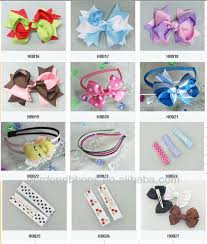 different types of hair bows 2014 hot sale lovely girl hair accessory buy yellow hair