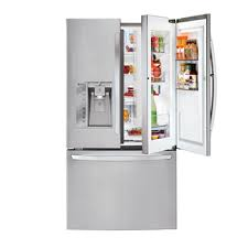 French Door Refrigerator Without Water Dispenser - lg french door refrigerators 3 u0026 4 door models lg usa