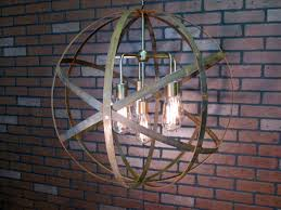 On Sale Rustic Chandelier Wine Barrel Ring Light Orb Ceiling