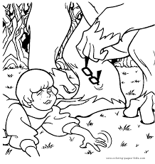 scooby doo color coloring pages kids cartoon