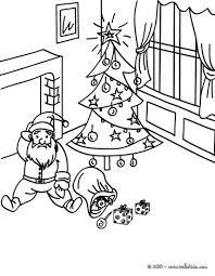 santa u0027s christmas sack coloring pages hellokids