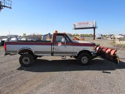 Ford F250 Plow Truck - 1991 used ford f350 snow plow truck with western plow