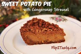 sweet potato pie with gingersnap streusel flip2tasty