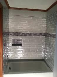 bathrooms design glass subway tile bathroom ideas shower wall
