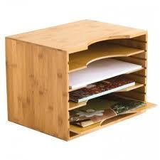 Desk Sorter Organizer Bamboo Paper Sorter Storables