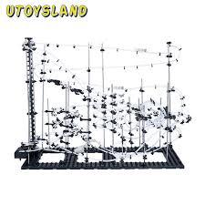 utoysland diy educational toys space rail level 5 6 7 8 9 steel marble roller coaster