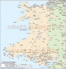 Map Of Wales 1m Scale Wales Basic Country Map Wales Maps British Isles Uk