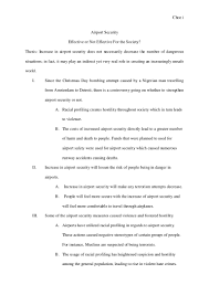 outline of an essay sample airport security outline by me
