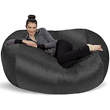 amazon com sofa sack bean bags bean bag chair 5 feet charcoal