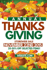 customizable design templates for thanksgiving retail sales event