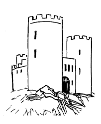 bluebonkers medieval castles churches coloring sheets