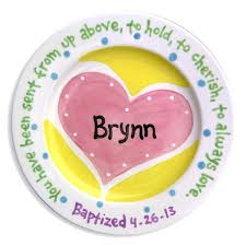 personalized ceramic plates ceramic baptism plates christening dedication personalized gift