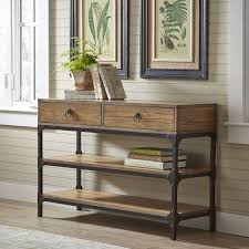 wood and metal console table with drawers birch lane tanner console table reviews birch lane