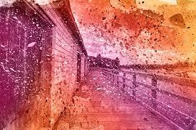 pei boardwalk vibrant acrylic splashes mixed media image u2026 flickr