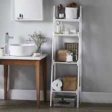 Bathroom Ladder Shelves Space Creating Ideas Bathrooms White Company Shelving And
