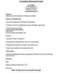 custodian sample resume cleaning business description download