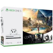 siege xbox 360 microsoft xbox one s console 1tb white assassin s creed origins