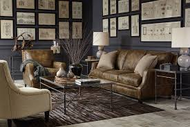 Accent Chair With Brown Leather Sofa Leather Furniture You Both Can Agree On