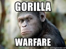 Gorilla Warfare Meme - gorilla warfare caesar from planet of the apes meme generator