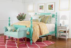 French Country Roman Shades - eclectic guest bedroom with laminate floors u0026 exposed beam