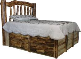 Bed Headboard And Frame williams log cabin furniture colorado aspen log beds headboards