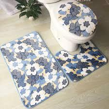 Non Slip Bath And Pedestal Mats 1 3pcs Non Slip Soft Bath Pedestal Mat Toilet Lid Carpet Bathroom