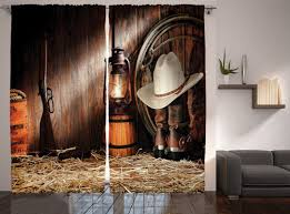 western curtains dancing cowgirl design