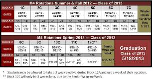 medical education academic calendar for 2012 2013 fsu college
