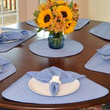 quilted placemats for round tables wedge placemats periwinkle blue quilted wedge shaped round table