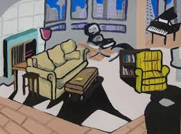 livingroom cartoon these illustrations of iconic sitcom living rooms will feed your