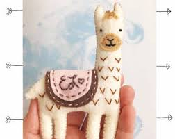 llama ornament etsy