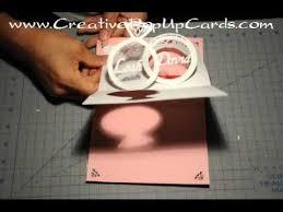 membuat video wedding invitation wedding invitation pop up card linked rings tutorial youtube