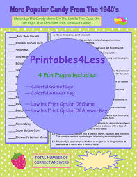 1940s candy games trivia printable trivia games for adults