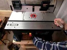 bosch router table accessories bosch ra1181 router table with freud ft2000e router youtube