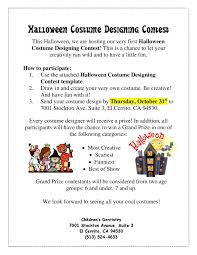 halloween costume designing contest children u0027s dentistry