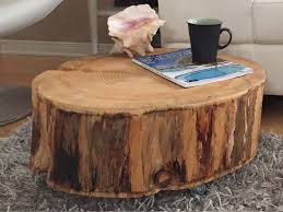 Wood Stump Coffee Table Diy Tree Trunk Coffee Table U2014 Derektime Design Great Idea Tree