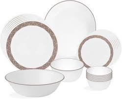 corelle sand sketch pack of 21 dinner set price in india buy