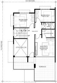 Two Storey House Design With Floor Plan Prosperito U2013 Single Attached Two Story House Design With Roof Deck